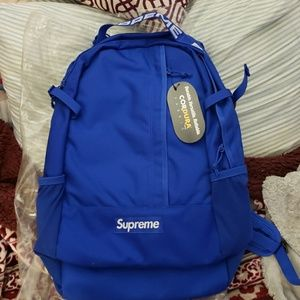 100% AUTHENTIC Supreme royal blue backpack